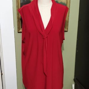 Tahari red sleeveless top